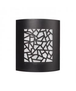 TRAZOS Applique murale extérieure en métal finition noir et diffuseur en PVC