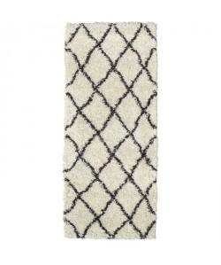 ASMA Tapis de couloir Shaggy Berbere  100% polypropylene  67x180 cm  Blanc creme