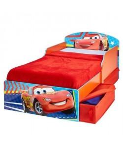 CARS Lit Enfant en bois 70*140 cm avec Tiroirs de Rangement  Worlds Apart
