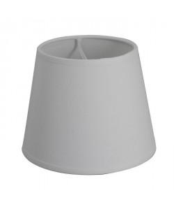 Abatjour forme Américaine  Ř 14 x H 11 cm  Polycoton  Blanc