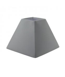 Abatjour forme Pyramide  16 x 16 x H 13 cm  Polycoton  Blanc