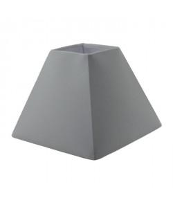 Abatjour forme Pyramide  23 x 23 x H 16 cm  Polycoton  Blanc