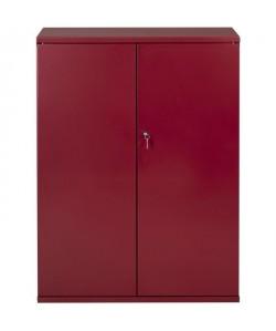 PIERRE HENRY Armoire de bureau JOKER style industriel  Métal rouge rubis nacré  L 43 x H 105 cm