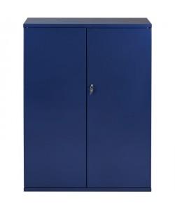 PIERRE HENRY Armoire de bureau JOKER style industriel  Métal bleu nuit nacré  L 43 x H 105 cm