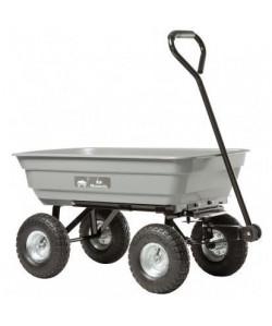 HAEMMERLIN Chariot de jardin  4 roues gonflées Ř 270 mm  Caisse PP grise 75 l  Charge maximale 150 kg