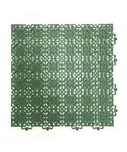 DCFLOOR Dalles de sol en polypropylene vertes  38 x 38 cm
