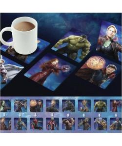 4 Dessous de verre lenticulaires Marvel: Avengers Infinity War