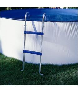 GRE Echelle pour piscine horssol  Argenté et bleu