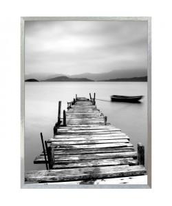 DOCK BATEAU Boîte a clés 18x24 cm Noir, blanc et gris
