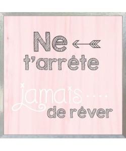 ARReTE DE ReVER Boîte a clés 20x20 cm Gris et rose
