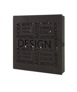 Boîte a clés Britt métal laqué noir