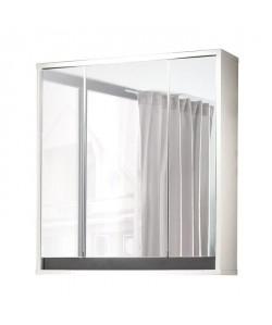 SOL Armoire de toilette L 67 cm  Blanc mat et gris