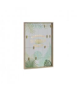 Portephotos mural Corde en bois  40 x 4 x 60 cm  Marron naturel
