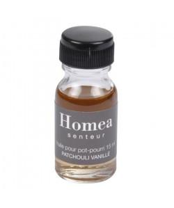 Huile pour pot pourri  15 ml  Parfum : patchouli vanille