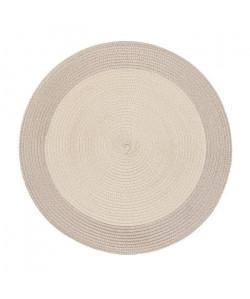 Lot de 4 sets de table rond Rommy  100% polypropylene  Ř 35 cm  Beige et taupe