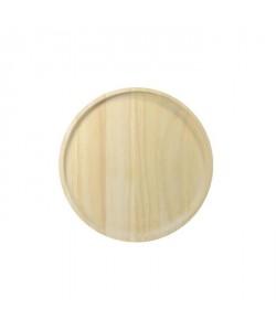 ECO DESIGN A2110 Assiette ronde en bois naturel avec bordures M 20x2cm