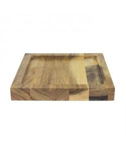 ECO DESIGN A1446 Assiette carrée Kesa Acacia  22x22x3 cm
