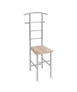 Valet / chaise de chambre San Remo  Métal, MDF alu, chene  L 45 x l 30 x H 110 cm