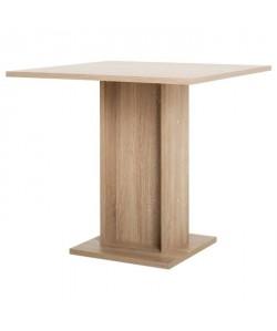 GUSTAVE Table a manger carrée de 2 a 4 personnes classique décor chene  L 80 x l 80 cm