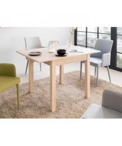 COBURG Table a manger extensible de 4 a 8 personnes classique décor chene  L 120160 x l 70 cm