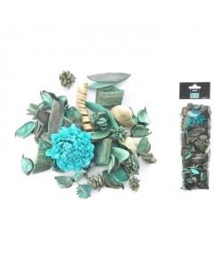 Pot pourri 140 g  8x30x5 cm  Parfum pinede  Bleu lagon