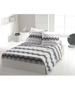 Parure de draps West Wide 100% coton  240x300 cm  Noir et blanc