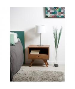 FANNY Table de chevet  Scandinave  tiroir bois cannelle  L 50 cm