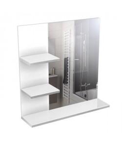 CORAIL Meuble miroir de salle de bain L 60 cm  Blanc laqué
