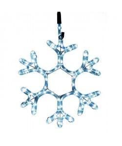 Flocon lumineux 90 LEDS  40 cm  Blanc  Tube L 3 m x Ř 11 cm