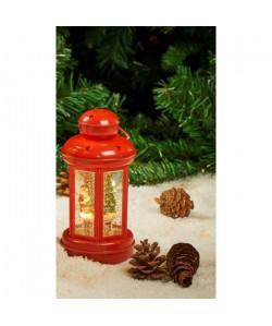 Lanterne Eau lumineuse et paillettes tourbillonnantes LED  H 20 x Ř 9,2 cm  Blanc chaud