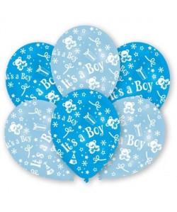 Lot de 6 Ballons  Latex  It\'s a Boy  Imprimé tous côtés