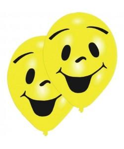Lot de 8 Ballons  Latex  Imprimé 2 faces  Jaune