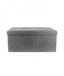 Coffre Banc pliable en tissu  76,5x37,5x37,5 cm  Gris