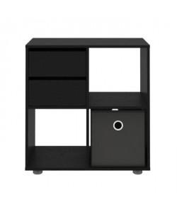 FINLANDEK Bibliotheque étagere HERKKÄ décor noir frene  L 70 cm