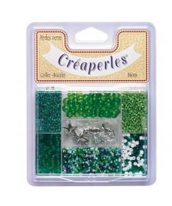 KIMPLAY Kit perles en verre  Vert
