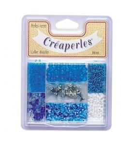 KIMPLAY Kit perles en verre  Bleu