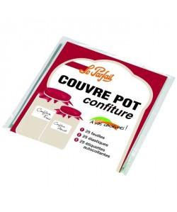 LE PARFAIT 2073015 Sac de 25 couvresconfituriers  Cellophane  Blanc