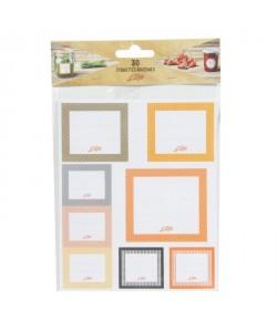 LE PARFAIT 6585010 Paquet de 30 étiquettes adhésives  Transparent