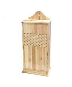 FRANDIS Huche a pain double en bois pin massif 78,4x31x17cm marron