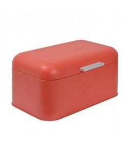 FRANDIS Boîte a pain rectangulaire  Métal  Rouge mat