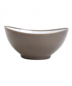 GIMEL Bol 25 cm gris et blanc