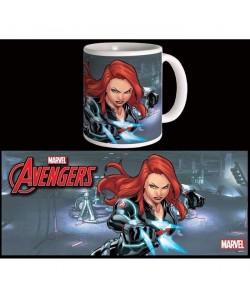 Mug Marvel Black Widow Avengers Série 2 Blanc