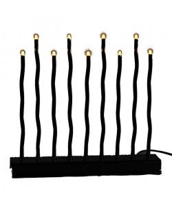 Candelabre Noel lumineux noir 14x30 cm
