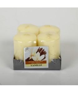 Lot de 4 Bougies parfumées Vanille  4x6cm