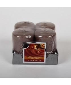 Lot de 4 Bougies parfumées Chocolat  4x6cm