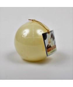 Bougie parfumée ronde Vanille dia  7.5 cm