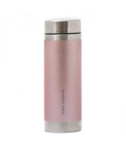 YOKO DESIGN Bouteille isotherme avec filtre a thé  Irisé rose satin  350 ml
