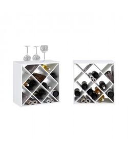 KIRI Set de 2 meubles étageres de cuisine L 53 cm  Décor blanc