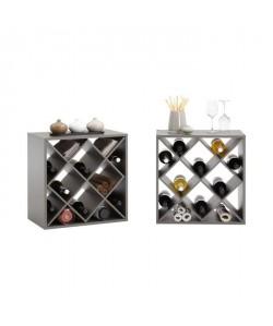 KIRI Set de 2 meubles étageres de cuisine L 53 cm  Décor taupe