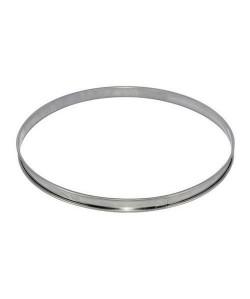 Cercle a tarte en inox, Ht 2cm, bord roulé ř 8